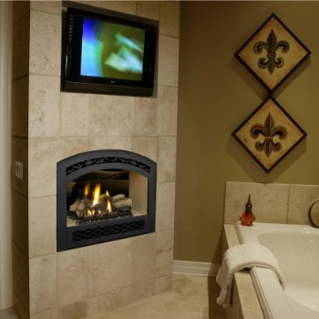 fpx 864 gas see thru fireplace